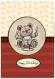 Freddy the Teddy Birthday A4 Topper Sheet