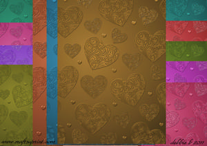 Embossed Hearts Paper Pack