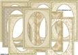 Beige and Gold Decorative Frame Set