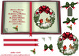 Christmas Cardinals and Snowy Wreath Book Sheet