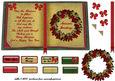 Christmas Wreath Open Book Sheet