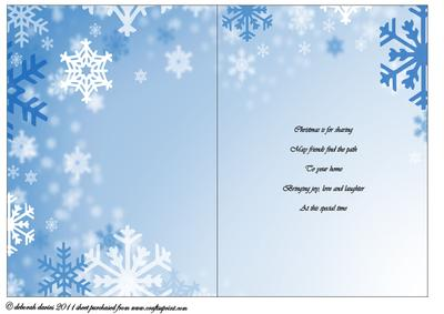 Christmas Snowflakes with Verse