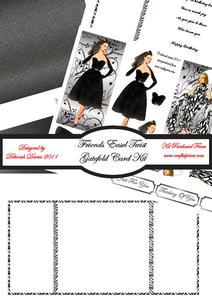 Friends Easel Twist Gatefold Card Kit