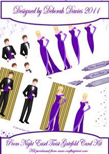 Prom Night Easel Twist Gatefold Card Kit