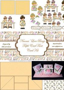 Nannas' Love Bingo Triple Easel Twist Card Kit