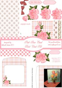 Pink Rose Easel Twist Card Kit
