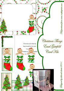 Christmas Things Easel Twist Gatefold Card Kit