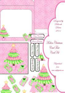 Modern Christmas Easel Twist Card Kit