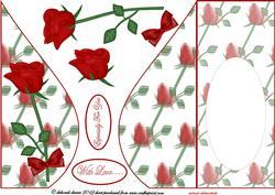 Rose Delight Tear Drop Card