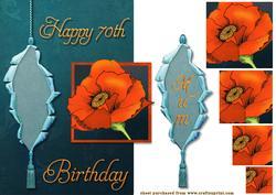 Poppy for 70th