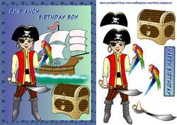 Ship Ahoy Pirate Boy