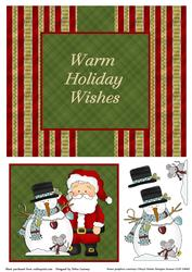 Santa and Snowman Christmas Swing Card