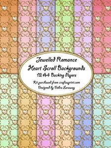 Jeweled Romance - Heart Scroll