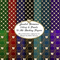 Jeweled Romance Backgrounds -velvet and Pearls