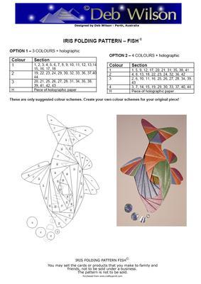 Fish Iris Folding Pattern Cup295033 1473 Craftsuprint