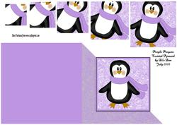 Purple Penguin Twisted Pyramid