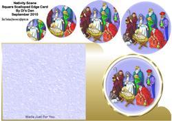 Nativity Scene Square Card