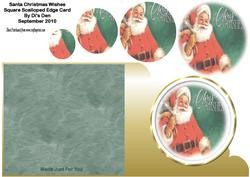 Santa Christmas Wishes Square Card