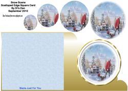 Snow Scene Square Card