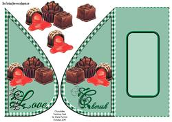 Chocolates Teardrop Card
