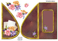 Floral Bouquet Teardrop Card