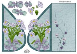 Floral Teardrop Card
