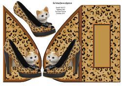 Simple Cat (2) Teardrop Card