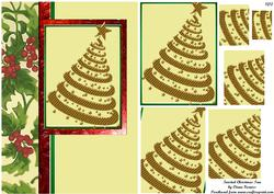 Twisted Christmas Tree Card Front