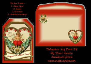 Valentine Heart Tag Card Kit