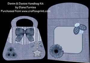 Denim & Dasies Handbag Card Kit