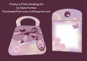 Pretty in Pinks Handbag Card Kit