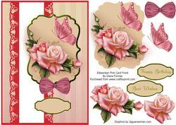 Edwardian Pink Card Front