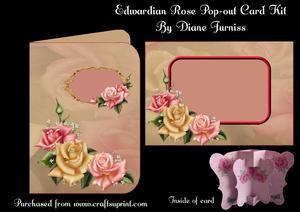 Edwardian Rose Pop-out Card Kit,