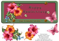Anniversay Number Plate Card
