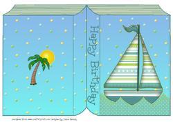 Book Shaped Sailboat Sheet