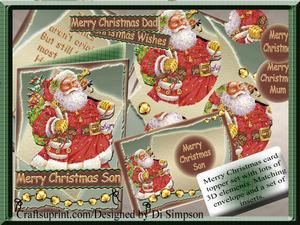 Merry Christmas-vintage Santa-general