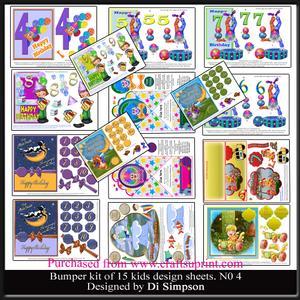 Bumber Kit- 15 Sheets for Kids Birthdays 1-10yrs #4