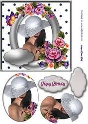 Flower Lady Happy Birthday