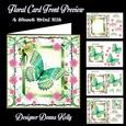 Pretty Green Butterfly Birthday/all Occasion Card