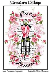 Cottage Chic Paris Dressform Collage