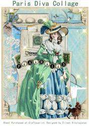 Paris Diva Collage French Vignette
