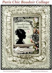 Paris Chic Boudoir Collage for Cards, Crafts, Journals