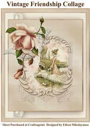 Vintage Victorian Ladies Friendship Collage