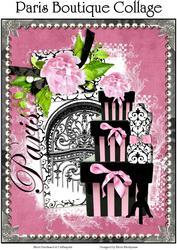 Paris Boutique Collage for Cards, Journals, Crafts