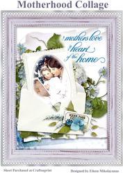 Vintage Motherhood Collage for Cards, Journals, Crafts