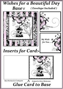 Wishes for a Beautiful Day Card Within a Card Set