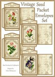 Vintage Seed Packet Coin Envelopes Set
