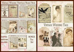 Vintage Wedding Heritage Mini Book with Tags Project