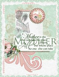 Victorian Mother's Day A4 Card Front