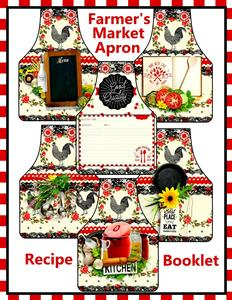 Farmer's Market Apron Shaped Recipe Card Booklet